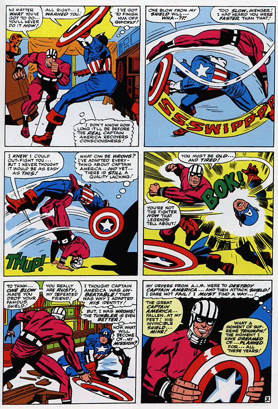 Cap getting his head handed to him!