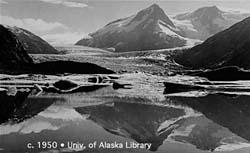 Portage Glacier, Alaska, 1950