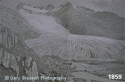 Rhone Glacier, Switzerland, 1859