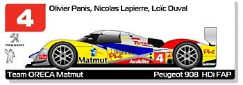 Team Oreca Matmut Peugeot 908